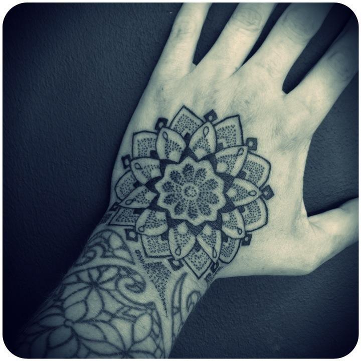 mandala dotwork hand tattoo my tattoo work ornamental. Black Bedroom Furniture Sets. Home Design Ideas