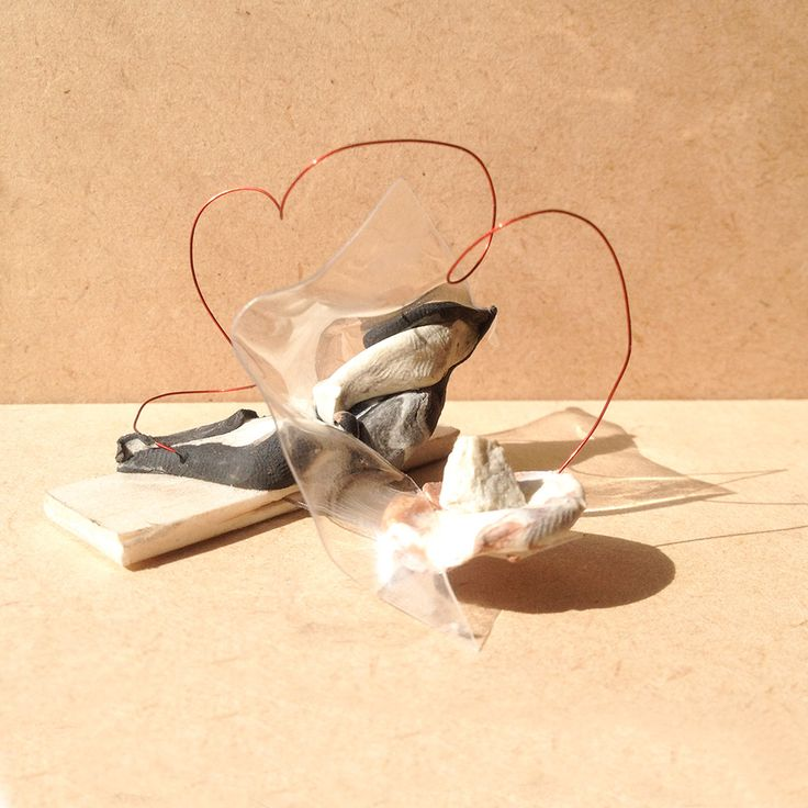 exercise five / model Y: transparency film, balsa wood, wire and stones
