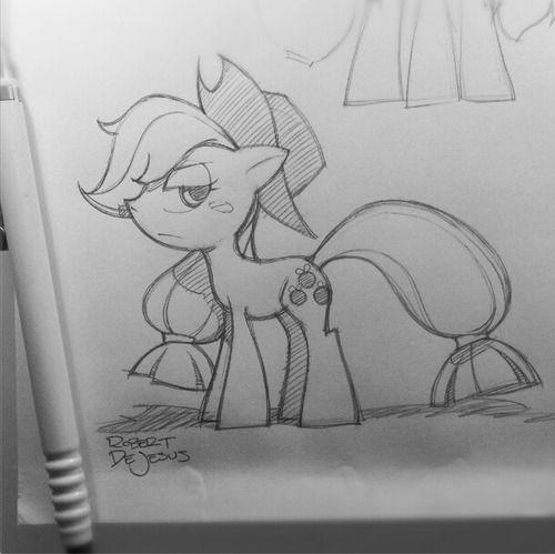 My sketch of Applejack.
