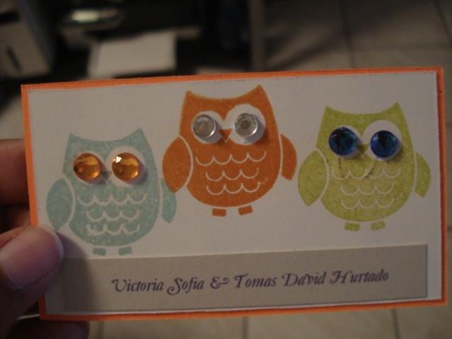 tarjetas personales, tarjetas personalizadas infantiles