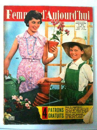Femmes D'Aujourd'HUI N°674 DU 03 04 1958 Patron Salopette Garçon 8 ANS |