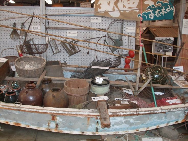 Museo sobre la enfermedad de Minamata. Utensilios de un pescador de aquella época. Mimamata 2010.