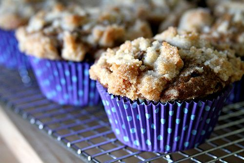 MOCHACCINO MUFFINS:   ESPRESSO CHOCOLATE MUFFINS WITH VANILLA BEAN STREUSEL  FROM A Cup Of Sugar...A Pinch Of Salt