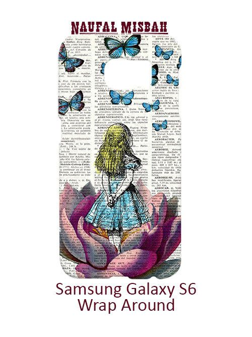 Alice in Wonderland Butterflies Samsung Galaxy S6 Case Cover