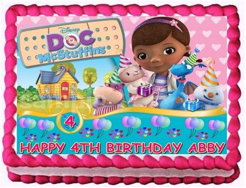 Doc Mcstuffins Cake Decorating Kit : DOC MCSTUFFINS EDIBLE CAKE TOPPER IMAGE DECORATION Bolos ...