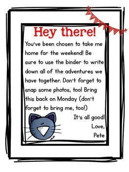 Pete the Cat - Classroom Mascot