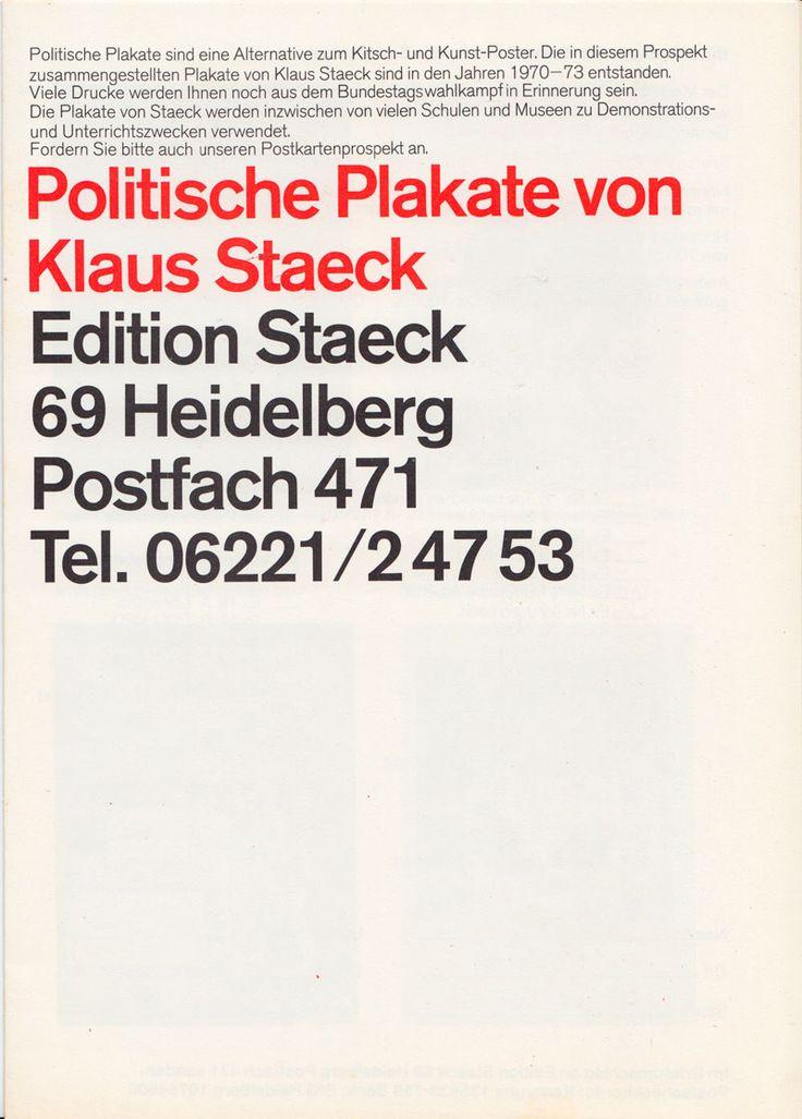 Great Politische Plakate von Klaus Staeck