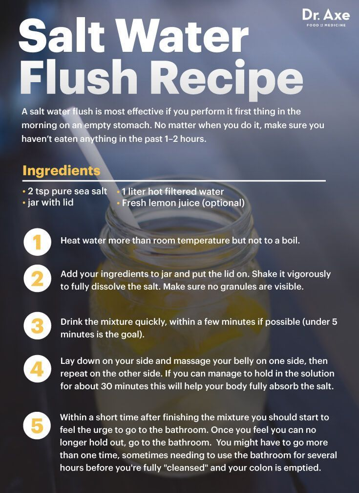 Salt water flush recipe - Dr. Axe www.draxe.com #health #Holistic #natural