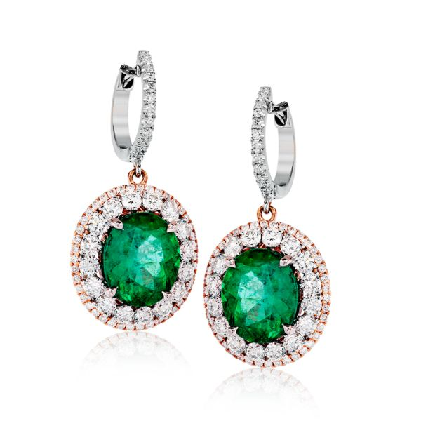 These incredible 18k white gold earrings inspired by old-world design qualities ...