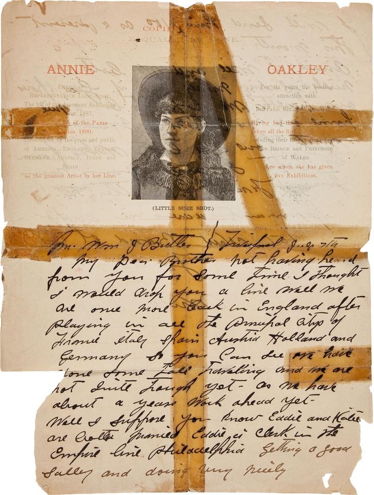 Frank Butler Rare Early Handwritten Letter on