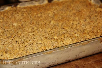 Deep South Dish: Southern Chicken Casserole. This was delicious, so buttery and yummy.