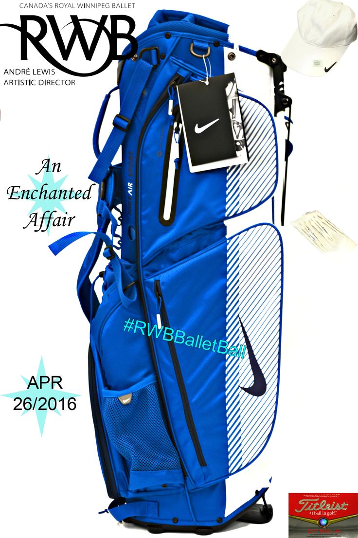 Enter to win this great Golf prize package featuring a Nike Women's hat, Nike Golf bag, Golf Tees, and Golf Balls at this years Ballet Ball #RWBBalletBall