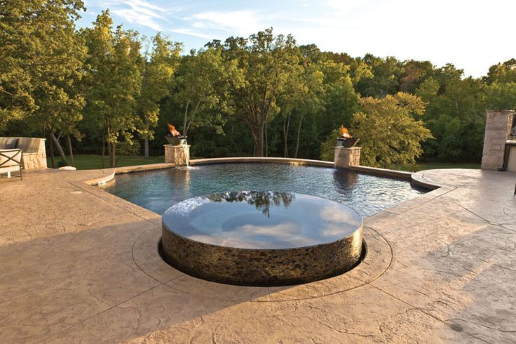 Pools Using Glass Tiles Photo Courtesy Of Baker Pools Jenks Ok Member Of Aquatech Pool