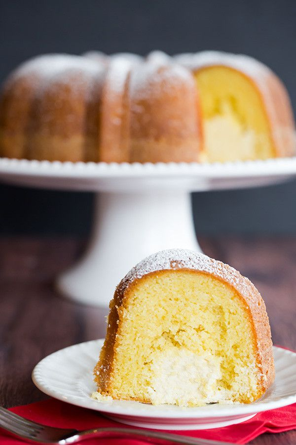 Twinkie Bundt Cake - This homemade Bundt version of the popular Twinkie dessert features a vanilla pound cake with a tunnel of that glorious cream filling!