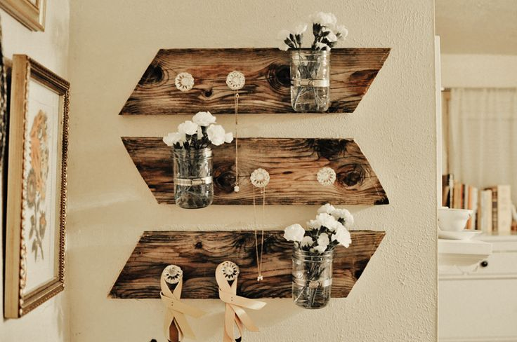I've always wanted to make these! DIY Mason Jar Wall Piece from Yesterday's Sweetheart - perfect for any room!