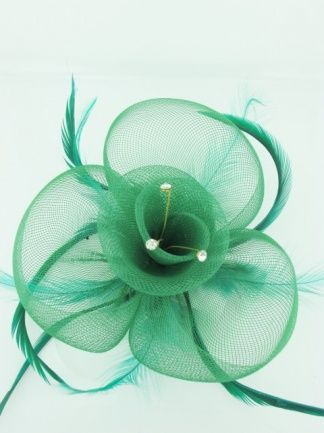 Green Fascinator