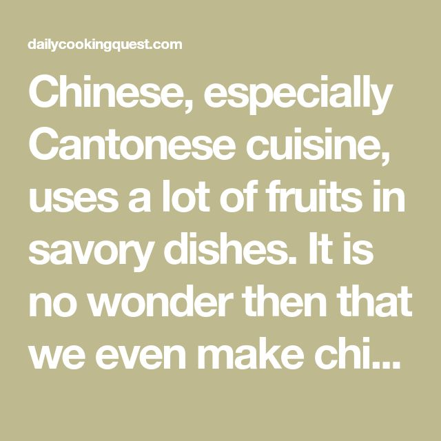 Chinese, especially Cantonese cuisine, uses a lot of fruits in savory dishes. It is no wonder then that we even make chicken soup with honeydew, surprise huh? Another fruit that is also commonly used in savory soup is of course apple, and most popular of all would be apple soup with deep fried fish and …