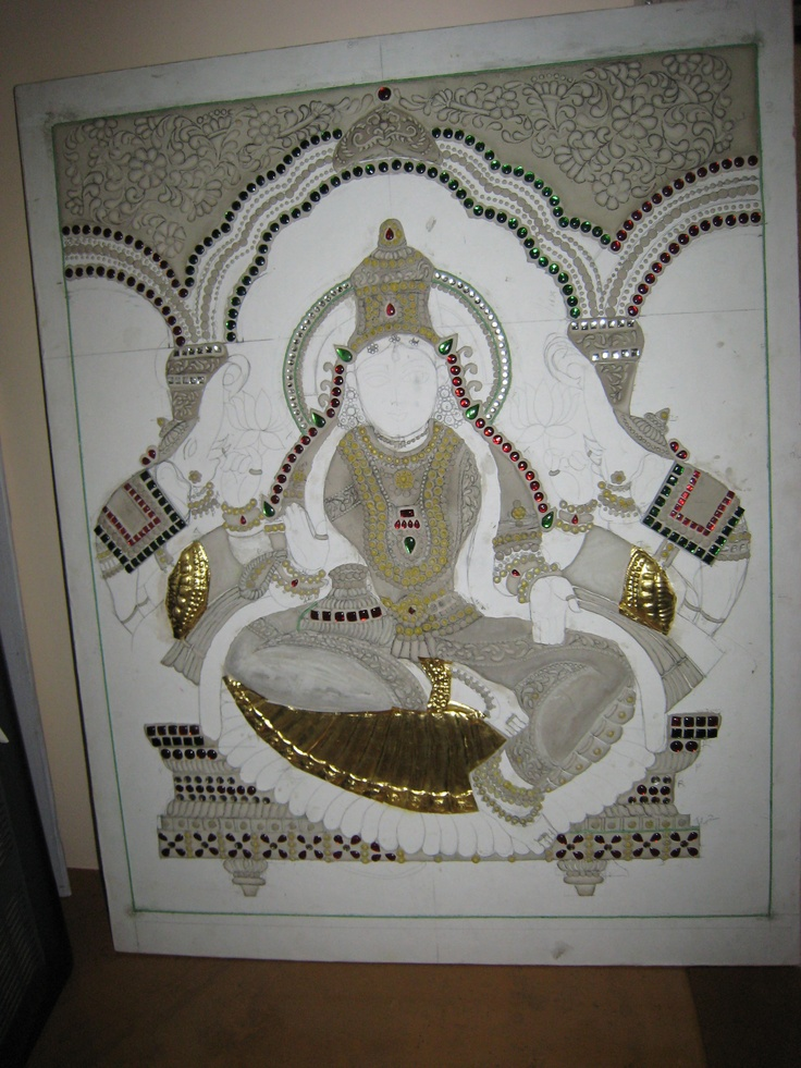 Preparation for Tanjore painting