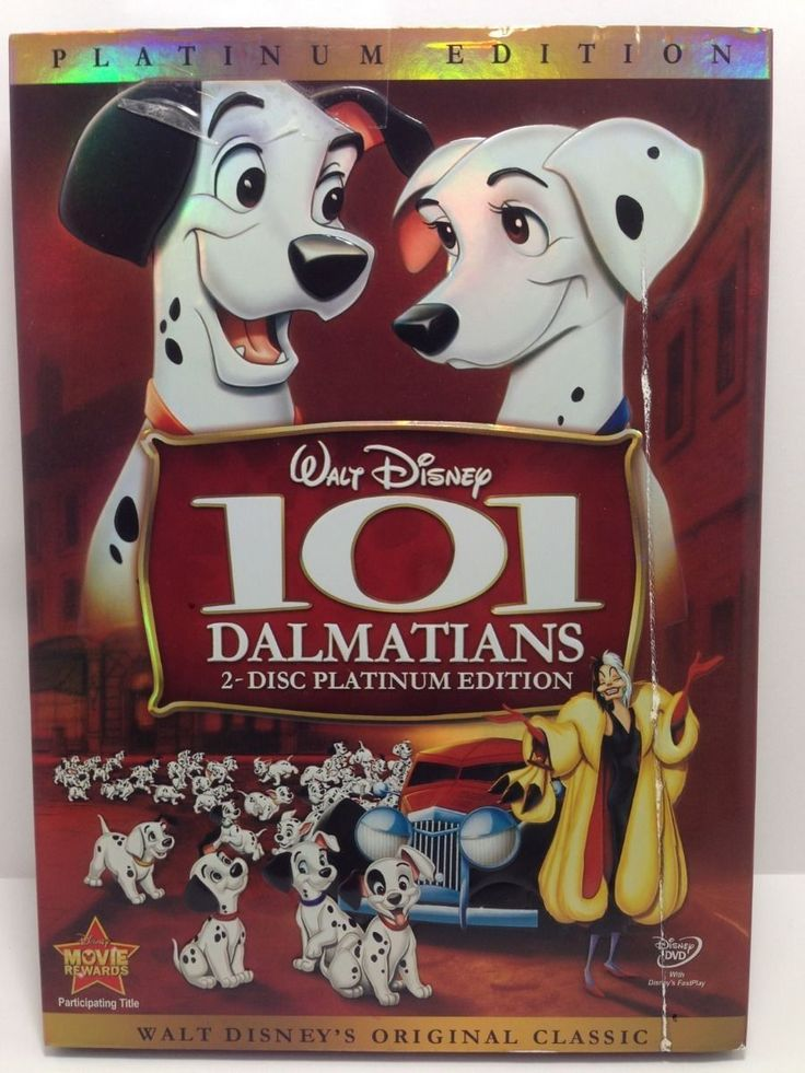 101 Dalmatians (DVD, 2008, 2-Disc Set, Platinum Edition) Brand New