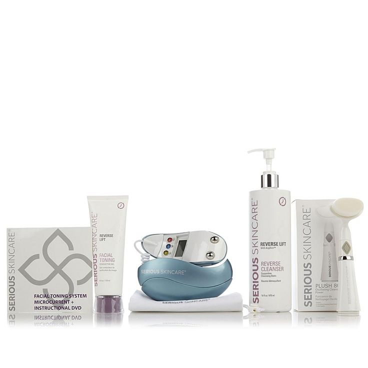 Serious Skincare by Jennifer Flavin-Stallone Serious Skincare Microcurrent EGG Facial Toning System with 80K Plush Cleansing Power Tool -