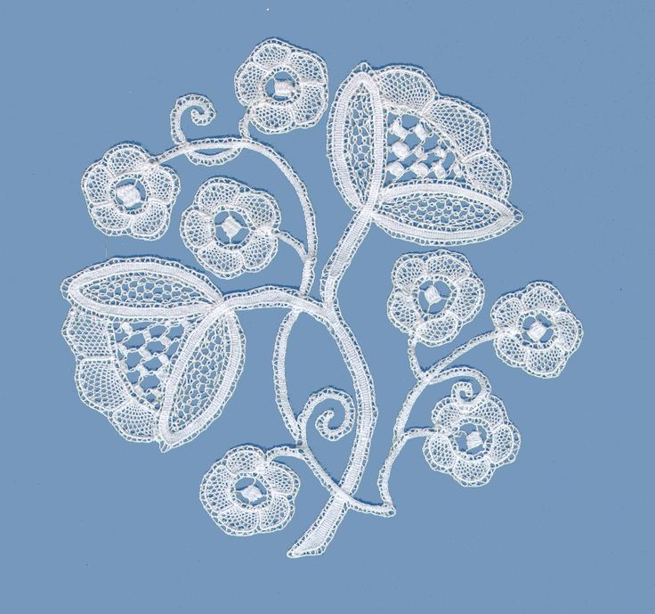 Honiton bobbin lace. designed by Sue Thompson. made by Julie Envoldsen http://weft.wlonk.com/gallery/index.htm#