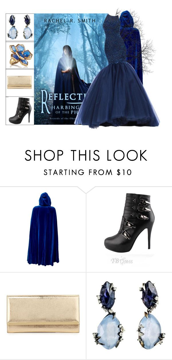 """""""Book Look: Reflection: Harbinger of the Phoenix By Rachel R. Smith"""" by xmikky ❤ liked on Polyvore featuring Masquerade, Jimmy Choo, Alexis Bittar and Oscar de la Renta"""