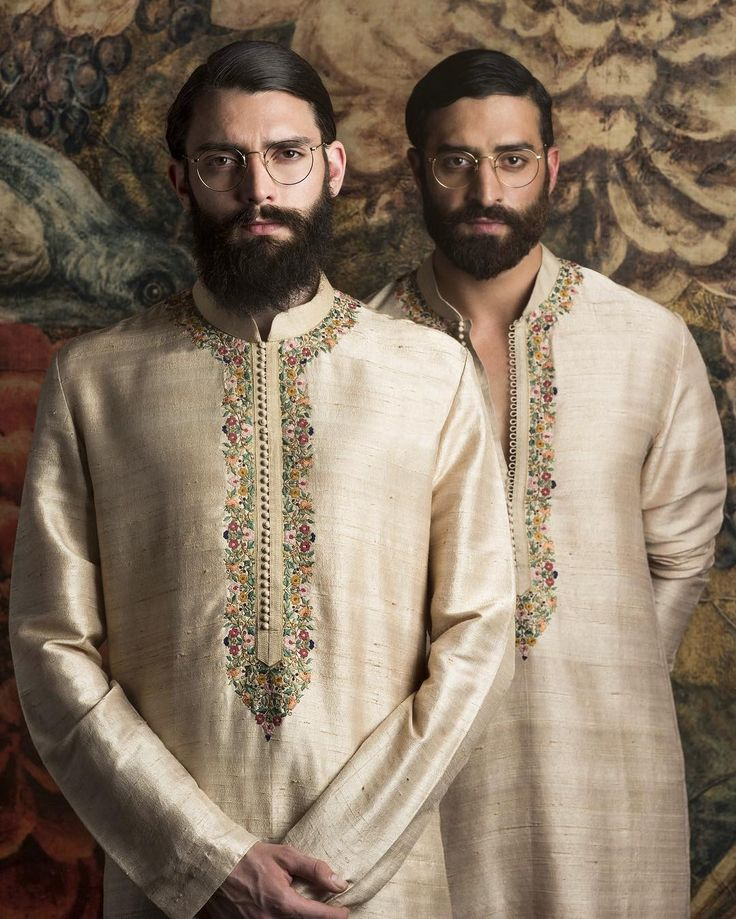 #Sabyasachi #Menswear #RawSilkKurta #HandEmbroidered #FestiveSeason2016 #Pujas #WinterWeddings #DestinationWeddings #HandCraftedInIndia #TheWorldOfSabyasachi