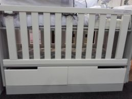 AMY COT WITH 2 DRAWERS- Cut out handles | Cot beds | Baby Nursery Furniture in Johannesburg South Africa