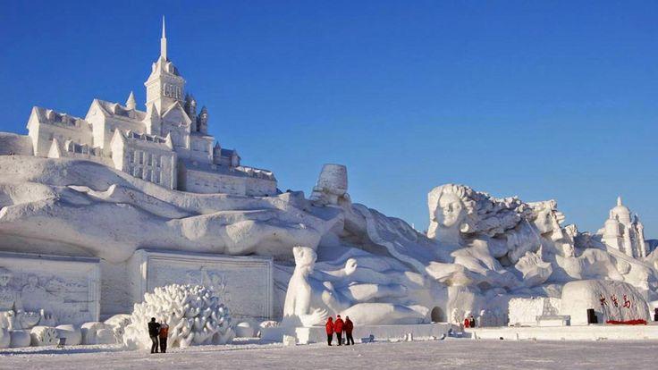 Jilin, la ciudad china donde viven las mejores esculturas de nieve del mundo - Infobae