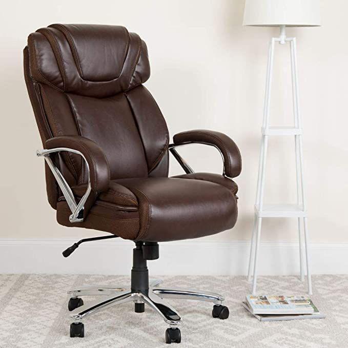Flash Furniture Hercules Series Big Tall 500 Lb Rated Brown Leathersoft Executive Swivel Ergono Flash Furniture Swivel Office Chair Office Chair