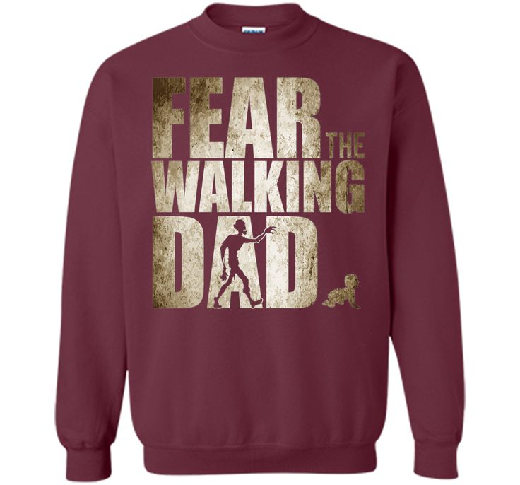 Men's Fear The Walking Dad Shirt, Funny Father's Day Gift Daddy