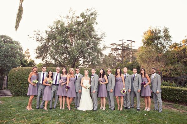 Purple wedding, lavender dresses, outdoor wedding, Del Mar, strapless wedding gown    http://www.inspiredbythis.com/2011/11/inspired-by-this-outdoor-lavender-del-mar-wedding/#