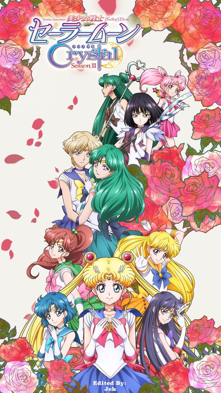 Finished: Sailor Moon Crystal Season 3 iPhone Wallpaper. PM me for the image…