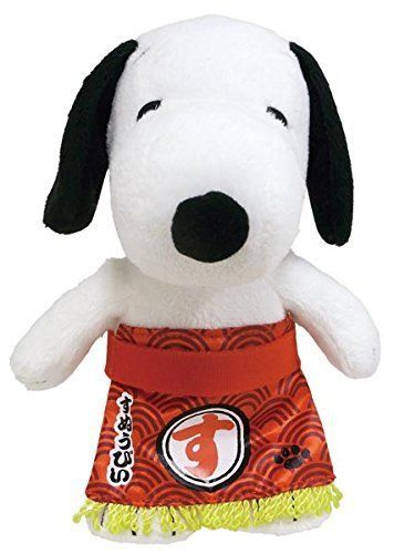 New! Snoopy Peanuts Sumo Wrestler Snoopy Plush Doll Japan F/S #Snoopy