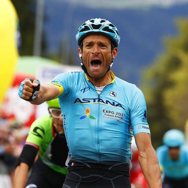 Michele Scarponi wins Stage 1 of the Tour of the Alps 2017 @bettiniphoto