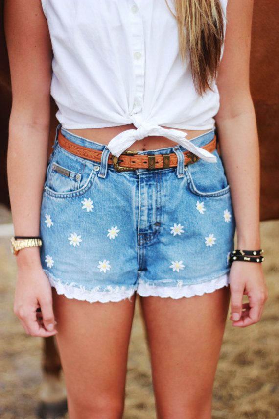 Hey, I found this really awesome Etsy listing at https://www.etsy.com/listing/153498799/daisy-high-waisted-shorts-tumblr-hipster