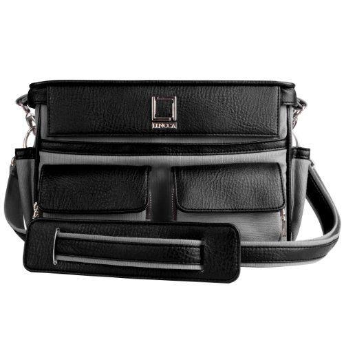 Lencca Coreen SLR Camera Bag  Grey Black For Nikon D8 D80 D800 D800e D9 D90 D900 DSLR Camera ** You can find more details by visiting the image link.