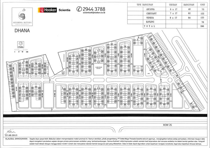 Site Plan Cluster Dhana - Black & White