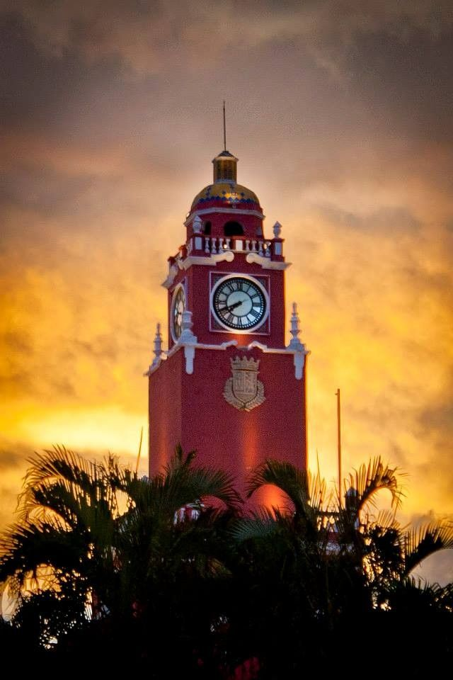 Clock Tower in Merida, Mexico. Photo by  Steve Shewchuk.