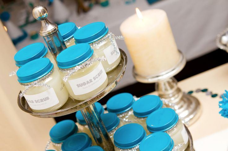 Baby food jars are the perfect size for packaging homemade spa treatments, and they look perfect with an added label and colored lid.