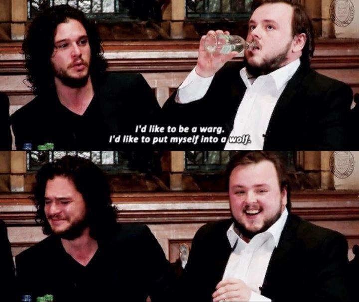 Kit Harington. If you could be any character in Game of Thrones, who would you choose to be