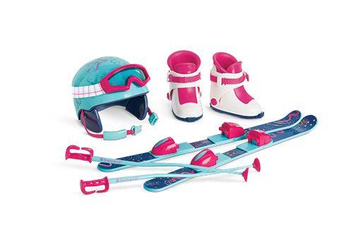 Skis & Helmet Set