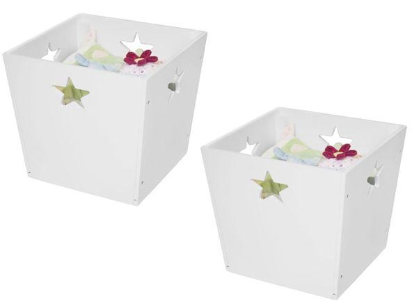 Kids Concept Förvaringsbox Star 2-pack Vit