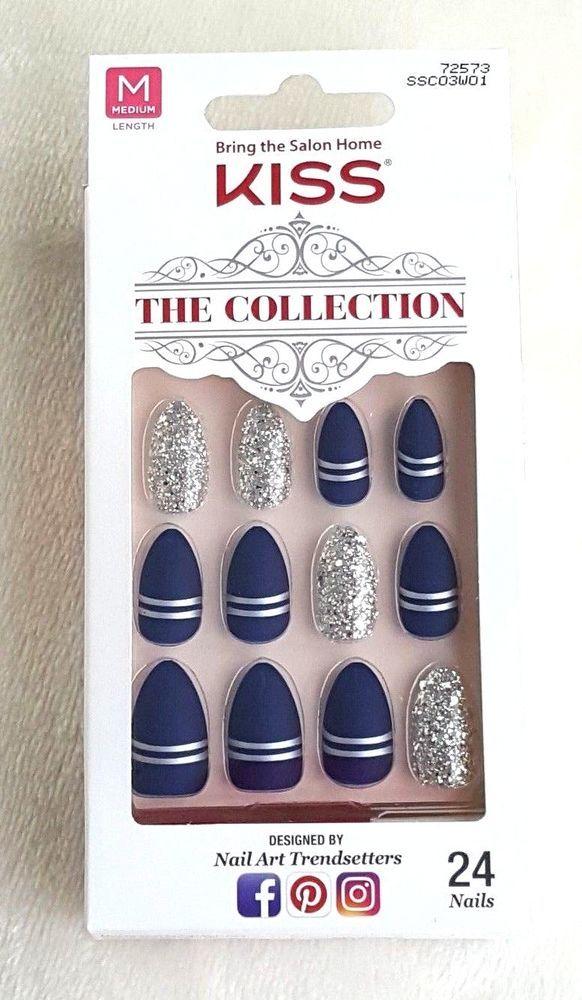 KISS The Collection 24 GlueOn Nails MEDIUM 72573 Kiss