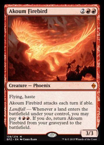 Akoum Firebird x4, Battle for Zendikar MYTHIC. BFZ, MAGIC MINT Unplayed