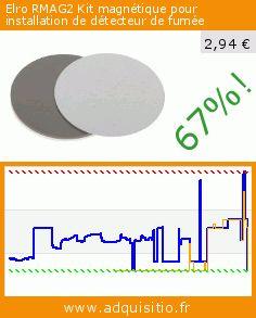 Elro RMAG2 Kit magnétique pour installation de détecteur de fumée (Outils et accessoires). Réduction de 67%! Prix actuel 2,94 €, l'ancien prix était de 8,85 €. http://www.adquisitio.fr/elro/rmag2-kit-magn%C3%A9tique