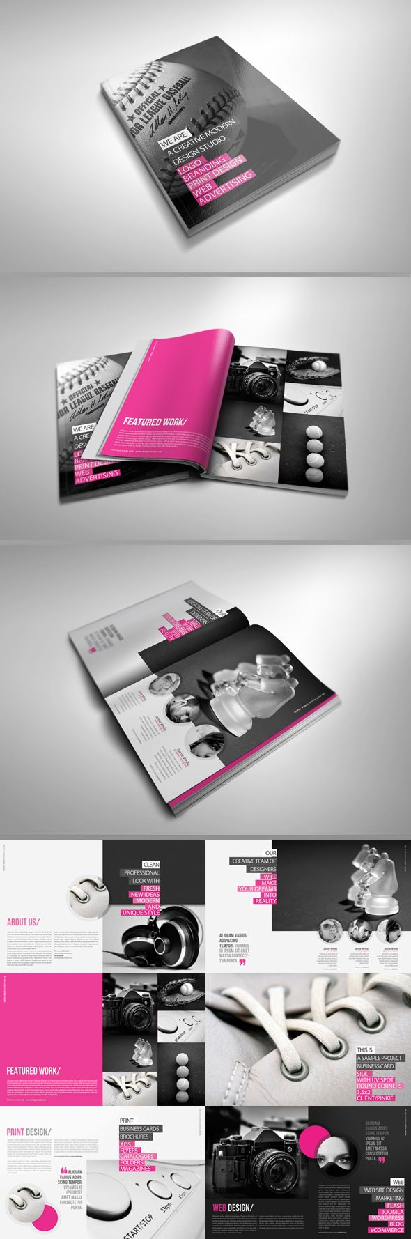 2 color brochure design
