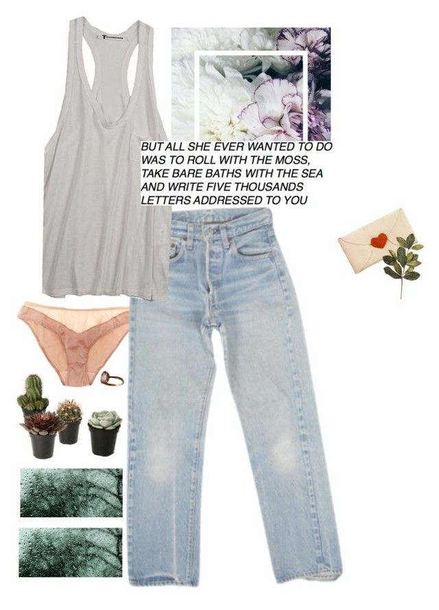 """And all the songs gets another dimention of meaning"" by vesleku on Polyvore featuring Araks, Levi's, T By Alexander Wang and xO Design"