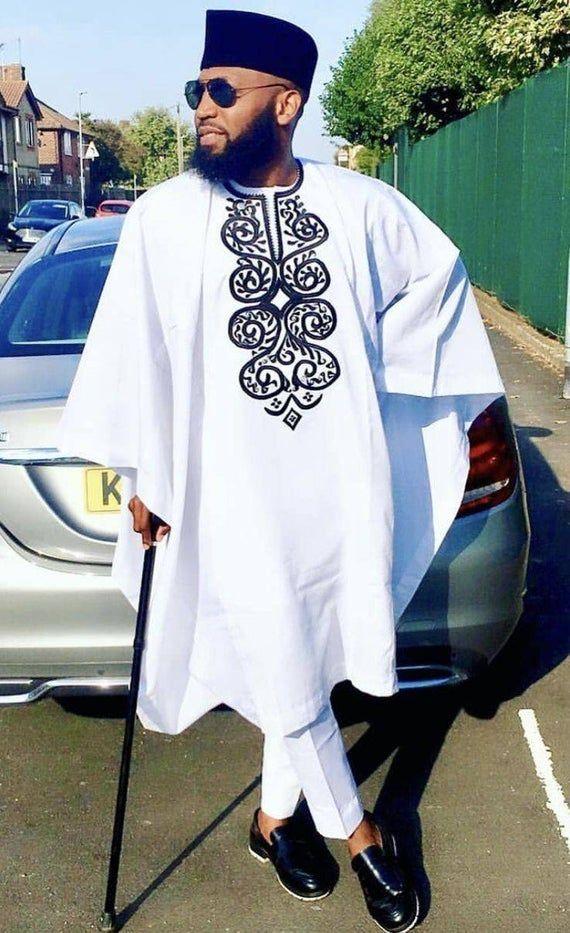 African Agbada, shirt and pant set// African men's shirt, African wedding suit, African prom, African dress