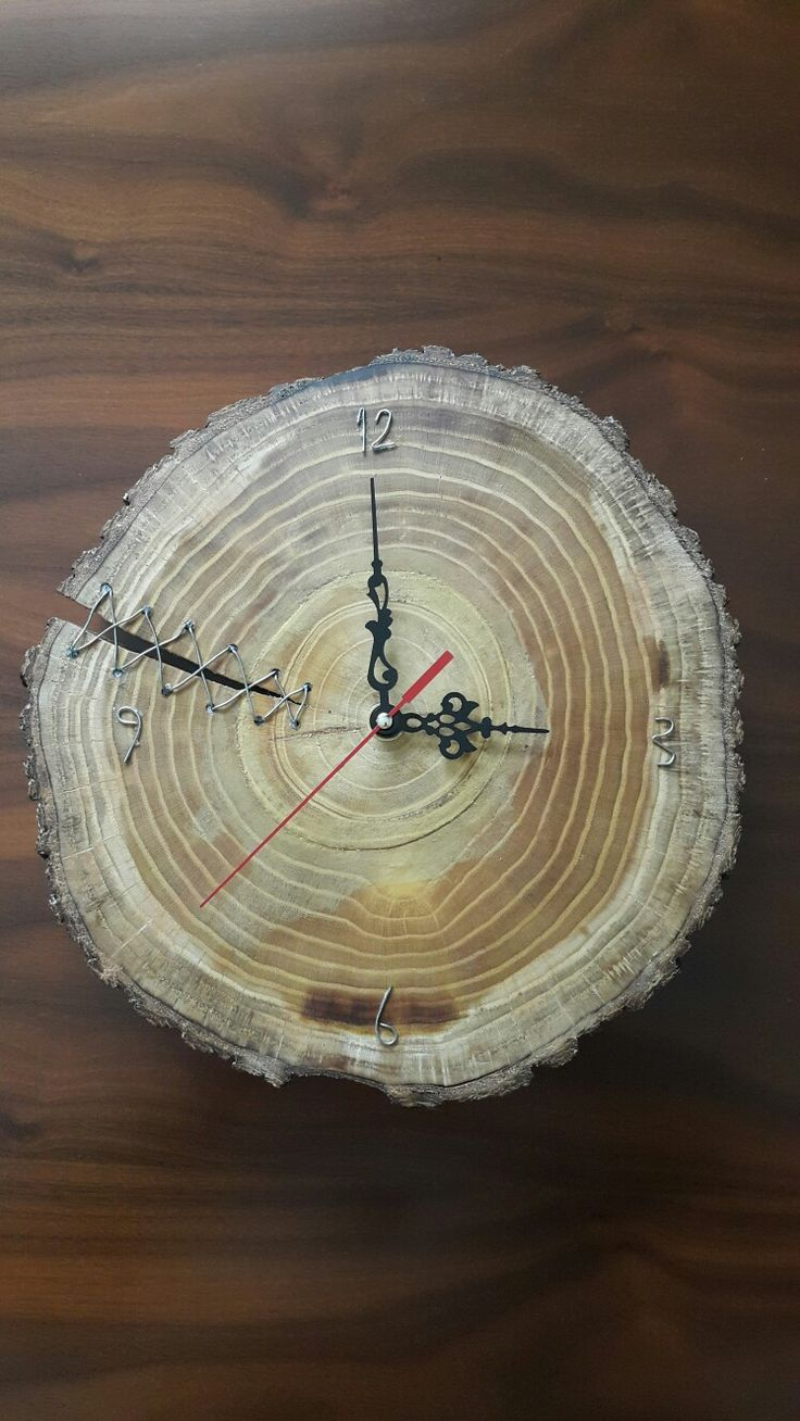 Wooden wall clock art-2
